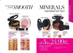 Have you ever wanted to try AVON Smooth Minerals make up? Well, here is the deal for you! Personalize your kit with foundation, blush, transparent glow, bronzer, and a kabuki brush for just $24.99. The best part is that you get to select the shades that are right for you. No pre-packaged cookie cutter kit here.  www.youravon.com/smixon ‪#‎Avon‬ ‪#‎SmoothMinerals‬ ‪