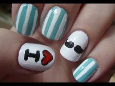 Mustache Nail Art- did this with McKayla, the mustaches were not as easy as it looked.
