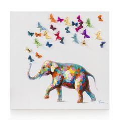 peinture An Elephant Never Forgets 95 x 95 cm