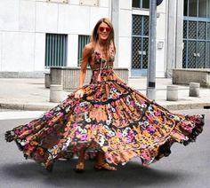 Bohemian maxi dress, boho style clothing, boho-chic clothes, gypsy summer long dress on boho boutique Bohemian Style Dresses, Gypsy Style, Boho Gypsy, Hippie Style, Floral Maxi Dress, Boho Dress, Boho Fashion, Fashion Dresses, Style Fashion