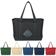 You're still rocking that personalized boat tote from the last convention you went to? Lame! Everyone knows the Large Cotton Canvas Yacht Tote is the next big thing, silly. There's still time to get your logo on some of these fancy bags before your next event! Because of its 24-ounce canvas material, zippered top closure, and 30-inch handles, this large tote bag is known to shatter expectations. After all, why in the world would you want your logo on a boat when you could have it on t...