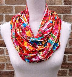 Ruffle Infinity Scarf Spring Mothers Day by IndustrialWhimsy
