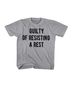 Look at this #zulilyfind! Heather Gray 'Resisting a Rest' Tee - Toddler & Boys by American Classics #zulilyfinds