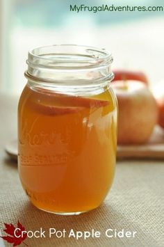 Super easy Crock Pot Apple cider.  Mix this up for parties or pop it in a Thermos for fall activities or sports.