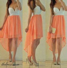 #Fashion #pink #white #dress #pretty