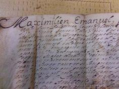 DOCUMENTO HISTORICO. CARTA DE MAXIMILIANO II EMANUEL. ELECTOR DE BAVARIA. FIRMA ORIGINAL. VER FOTOS.