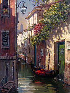 Morning in Venice ........lilacs in positano ...Artist by Bob Pejman.