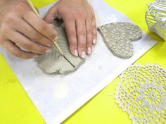 Cassie Stephens: In the Art Room: Clay Hearts with Wings
