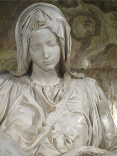 Michelangelo's Pieta is the most beautiful piece of Art I have ever tried to take in fully, It literally took my breath away when seen in Rome, and brought me to tears.