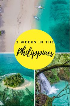 Coming up with a Philippines itinerary covering the best islands, beaches and places to visit within 2 weeks can be hard. Our itinerary in paradise covers travel to amazing bucket lists destinations - Siargao to Cebu to Coron + El Nido in Palawan + Bora Bora, Voyage Philippines, Les Philippines, Philippines Travel Guide, Philippines Beaches, Luang Prabang, New Travel, Asia Travel, Travel Tips