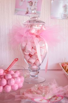 Plato de dulces tutú tutú para tarro del caramelo Jar Tutu