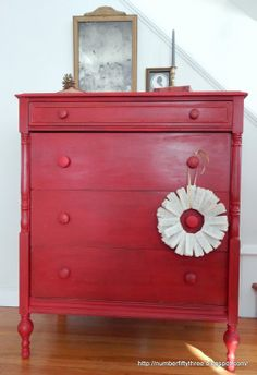 Number Fifty-Three: The Perfect Red Vintage Dresser