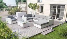 set z umeleho ratanu biely Outdoor Sectional, Sectional Sofa, Outdoor Furniture Sets, Outdoor Decor, Praha, Milan, Home Decor, Table, Balconies