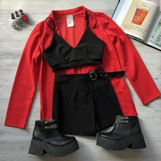 Best Teen Fashion Part 22 Teen Fashion Outfits, Edgy Outfits, Cute Casual Outfits, Korean Outfits, Grunge Outfits, Night Outfits, Grunge Fashion, Mode Rock, Mode Grunge