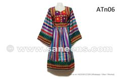 Beautiful Afghan Women Attire Top Fashion Gypsy Wedding Multicolor Dress - Saneens Online Store