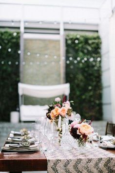 Bold and Beautiful Floral Wedding Ideas by The Vine's Leaf - wedding decorations idea; Aaron Young Photography