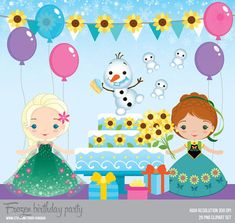 Frozen Inspired Birthday Party  Instant Download  PNG by araqua