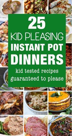 Kid friendly Instant Pot recipes are a must in our house. I love using my electric pressure cooker to make dinner because it makes it so much easy to cook up some family friendly dinners on busy nights. Check out these delicious kid friendly Instant Pot d Best Instant Pot Recipe, Instant Pot Dinner Recipes, Instant Recipes, Instant Pot Meals, Kid Recipes Dinner, Dinner Ideas, Slow Cooker Recipes, Cooking Recipes, Healthy Recipes