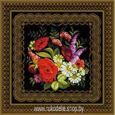 Набор для вышивки крестом Риолис Подушка/панно Жостовская роспись 1642