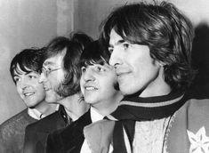 The Beatles pose together on February 28, 1968. From left are Paul McCartney, John Lennon, Ringo Sta... - AP