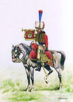 Tromba dei cacciatori a cavallo della guardia imperiale franecese