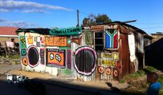 Ghetto Blaster : biggest township in south africa - Everfresh Studio Melbourne Graffiti, Alice, South African Artists, Types Of Painting, Hand Painted Signs, Mural Painting, Street Signs, Africa Travel, Street Artists