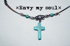 A personal favorite from my Etsy shop https://www.etsy.com/listing/235059567/tribal-turquoise-cross-boho-jewelry-boho