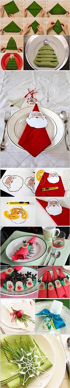 Как красиво сложить салфетки на Новогоднем столе | 4vkusa.ru