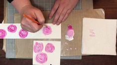 Swirly Acrylic Paint Flowers