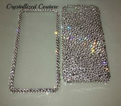 Iphone 5/5S 5C 4/4S Bumpy Swarovski Crystal Clear  Bling 2 Piece Case