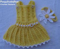 Super cute crochet pattern. Lots of texture. CROCHET PATTERN Daisy overalls set Baby by PennysCrochetCloset