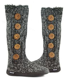 Another great find on #zulily! Dark Gray Fuzzy Tall Boot - Women #zulilyfinds