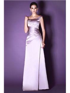 Classic A-Line Floor-Length Scoop Taline's Evening Dress