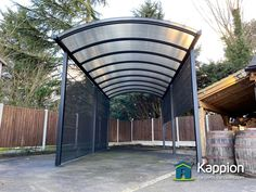 3.5 metres wide x 8 metres in length x 3 metres high (eaves) motorhome canopy installed in Essex by Kappion Carports & Canopies.  Carport Canopy, Canopies, Motorhome, Pools, Shelter, Building, Outdoor Decor, Furniture, Rv