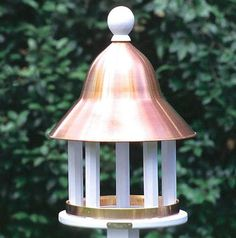 `Lazy Hill Farm Designs Bell Bird Feeder with Polished Copper Roof - Welcome to Yardify - 1