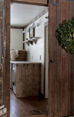 Rustic decor,  efficient and effective laundry room! Great layout