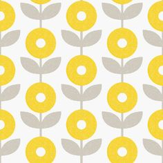 Mod Floral in Gold| Sarah Hearts Removable Wallpaper| WallsNeedLove