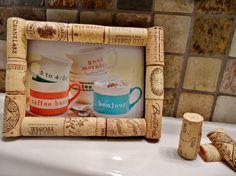 Wine Cork Frame / Corkboard on Etsy