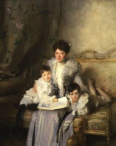 Mrs. Arthur Knowles and her Two Sons (1902). John Singer Sargent (American, 1856-1925). Oil on canvas. Butler Institute of American Art. Mrs. Knowles and her two sons, John Buchanan and Richard Arthur...