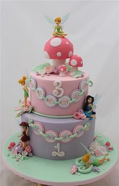 could do a cake like this but with your own fairy creation rather than tinkerbelle