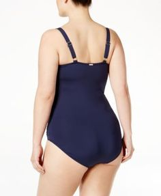 Calvin Klein Plus Size Starburst One-Piece Swimsuit - Gold 20W