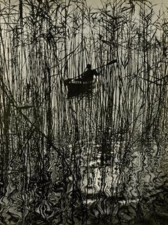 "yama-bato:    Ruth Hallensleben (German, 1898 - 1977). ""Along the Bondensee at Mainau"". Original vintage magnagravure. c1961. Printed 1962."