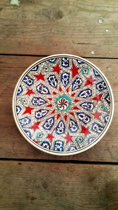Hand Made Turkish Ceramic Plate / Wall Decor by on Etsy Turkish Plates, Turkish Art, Turkish Tiles, Pottery Plates, Ceramic Plates, Porcelain Ceramics, Decorative Plates, Plate Wall Decor, Plates On Wall