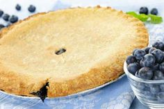 Today is National Blueberry Pie Day! Celebrate by making this Gluten Free Blueberry Pie Recipe: http://glutenfreerecipebox.com/gluten-free-blueberry-pie/