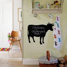 Looking for great hallway decorating ideas? Take a look at this cute cottage hallway from Country Homes & Interiors for inspiration. For more hallway ideas, such as how to decorate with geometric and monochrome, visit our hallway galleries Country Hallway, Country Decor, Country Style, Black Interior Design, Interior Design Inspiration, Cow Kitchen, Kitchen Ideas, Flur Design, Country House Interior