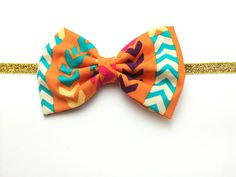 Hey, I found this really awesome Etsy listing at https://www.etsy.com/listing/192170652/babygirls-aztec-arrow-fabric-bow-with