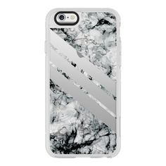 Transparent stripes on black and white marble - matching your adidas -... (€36) ❤ liked on Polyvore featuring accessories, tech accessories, phone cases, iphone case, apple iphone cases, iphone hard case, iphone cover case, black and white iphone case and transparent iphone case