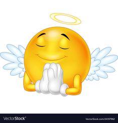 Emoticon de anjo isolado no fundo branco. Animated Smiley Faces, Funny Emoji Faces, Animated Emoticons, Emoticon Faces, Funny Emoticons, Smiley Emoji, Kiss Emoji, Emoji Love, Cute Emoji