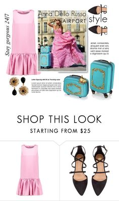 """""""Anna Dello Russo: Airport Style"""" by asya-1 ❤ liked on Polyvore featuring H&M, Dolce&Gabbana, GetTheLook and airportstyle"""