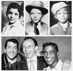 Dean Martin Frank Sinatra et Sami Davis junior gamins et puis adultes Joey Bishop, Hollywood Stars, Classic Hollywood, Old Hollywood, Dean Martin, Sammy Davis Jr, Young At Heart, Junior, The Voice